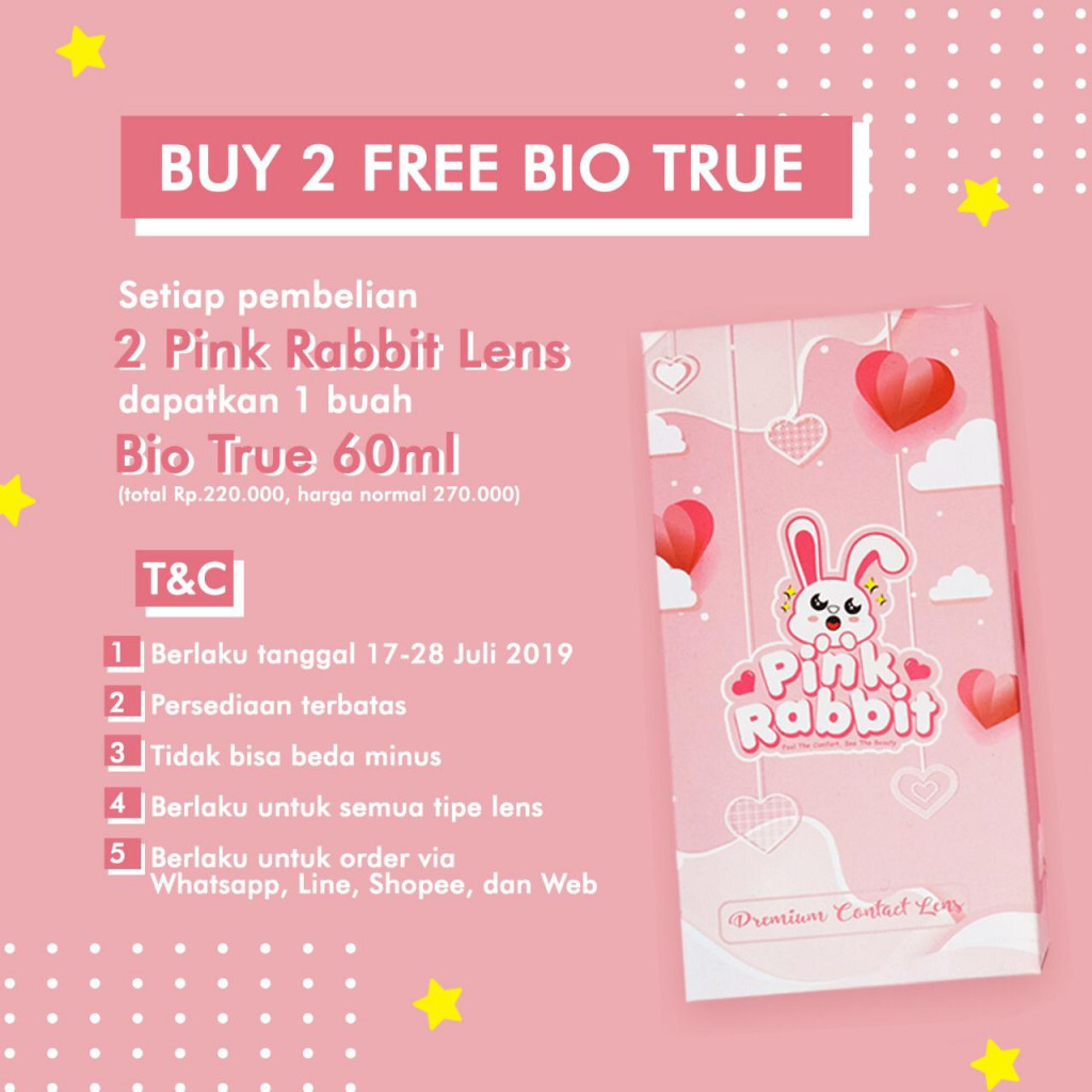 BUY 2 Lens FREE Bio True 60ml